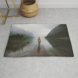 Mountain Lake Vibes - Landscape Photography Rug