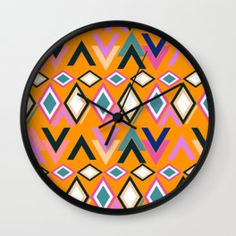 Lively shapes Wall Clock