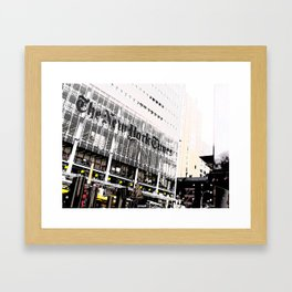 New York Times building shot via 8th Ave  - 620 8th Avenue, New York, NY Framed Art Print