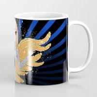 artrave Mugs featuring artRAVE - ARTPOP by Aldo Monster