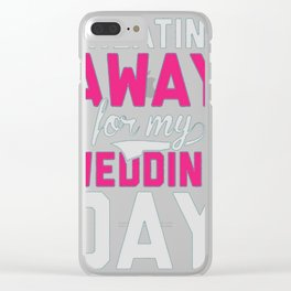 SWEATING AWAY Clear iPhone Case