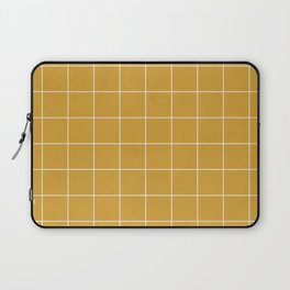 Small Grid Pattern - Mustard Yellow Laptop Sleeve
