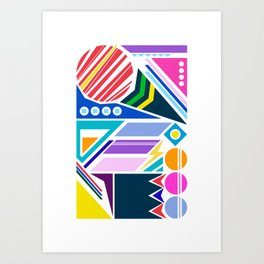 Geo Splash Art Print