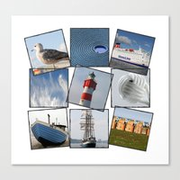 nautical Canvas Prints featuring Nautical by Anne Seltmann