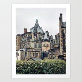 Greyfriars Kirkyard - Candlemakers row in Edinburgh, Scotland Art Print