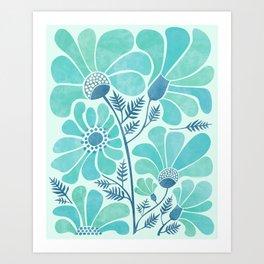 Himalayan Blue Poppies Art Print