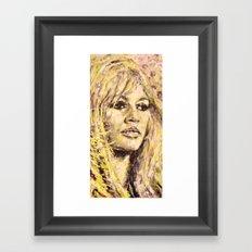 B Bardot Framed Art Print
