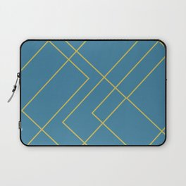 Dark Teal with Geometric Gold Lines Laptop Sleeve