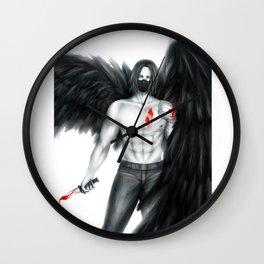 An Angel of Death Wall Clock