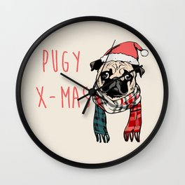 Pugy X-Mas Wall Clock
