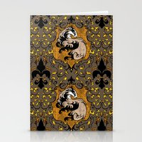 hufflepuff Stationery Cards featuring Hufflepuff by Cryptovolans