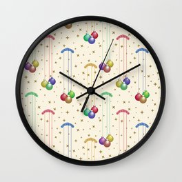 Colorful Christmas balls,gold stars SB9 Wall Clock