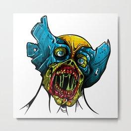Zombie Wolverine Metal Print
