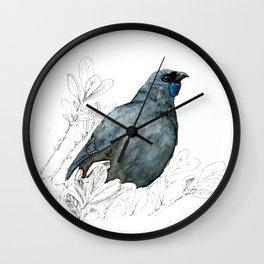 Kōkako, New Zealand native bird Wall Clock