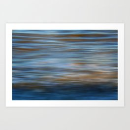 Ripples in water natural pattern Art Print