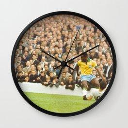 Pelé (Edson Arantes do Nascimento) : Brazil vs. Bulgaria : World Cup Soccer Football : July 12, 1966 Wall Clock
