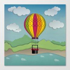 Balloon Aeronautics Sea & Sky Canvas Print