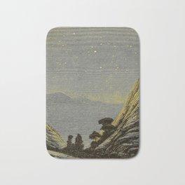 Astronomy for amateurs - 1904 Star Night Sky Landscape Bath Mat