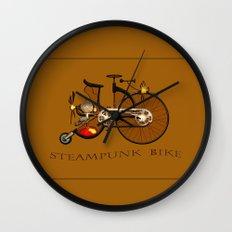 Steampunk bike Wall Clock