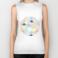 sprinkles Biker Tanks featuring Ice Cream & Sprinkles by Holly Ent