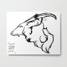 Munt-Ink Metal Print