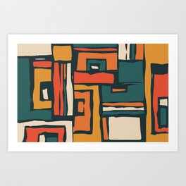 Maze abstract adventure Art Print