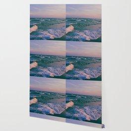 Sunset Crashing Waves Wallpaper