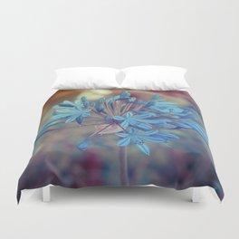 Blue flower Duvet Cover