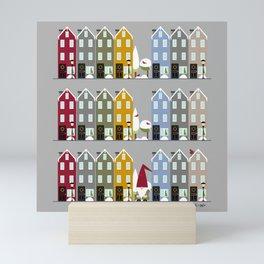 Row Houses + Gnome Mini Art Print