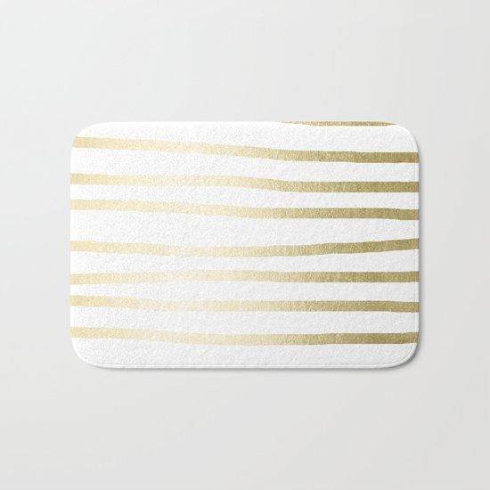 Simply Drawn Stripes Gilded Palace Gold Bath Mat