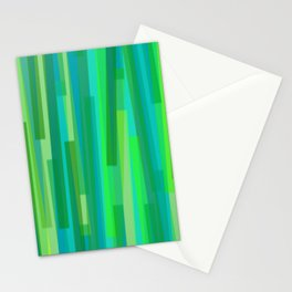 Geometric Green Painting Stationery Cards