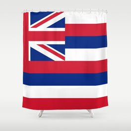 State flag of Hawaii - Authentic version Shower Curtain