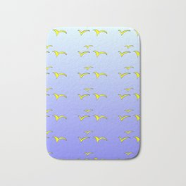 Birds in the blue sky 1-bird,sky,hope,feathers,jaws,eggs,aves,wing Bath Mat