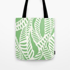 Al Peas: Ivory on Sage/Green Tote Bag