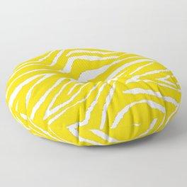 Zebra Golden Yellow Floor Pillow