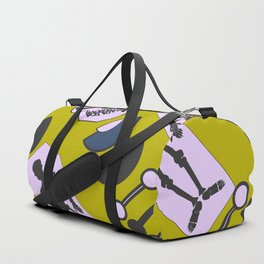 Modern Halloween skeletons Duffle Bag