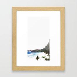 Souvenir from the island Framed Art Print