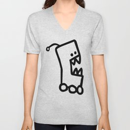 Chalkboard Wallies Unisex V-Neck