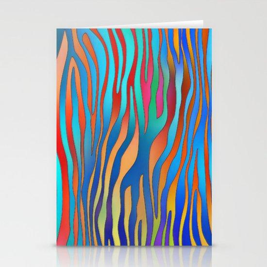 Colored Zebra Pattern Stationery Cards
