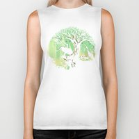 hello Biker Tanks featuring The jungle says hello by Picomodi