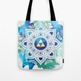 A Legendary Blue/Green Zelda Mandala Tote Bag