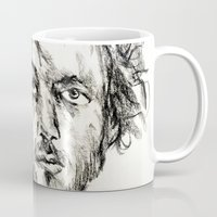 grand theft auto Mugs featuring Petty Theft by Andrew Brennan