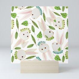 Rabbits in Ruffles Mini Art Print