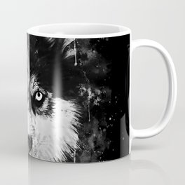 husky dog face splatter watercolor Coffee Mug