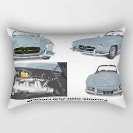 Classic blue car Rectangular Pillow