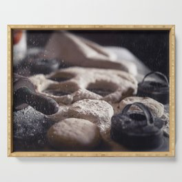 Baking Biscuits art for your kitchen Serving Tray