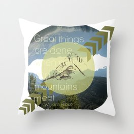 Great things Throw Pillow