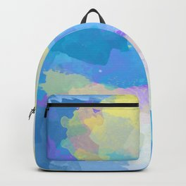 Colorful Abstract - blue, pattern, clouds, sky Backpack