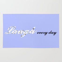 Laugh Every Day (Light Blue) Rug