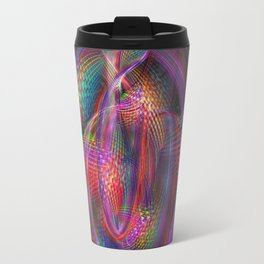Movement, artistic fractal mirrored abstract Travel Mug